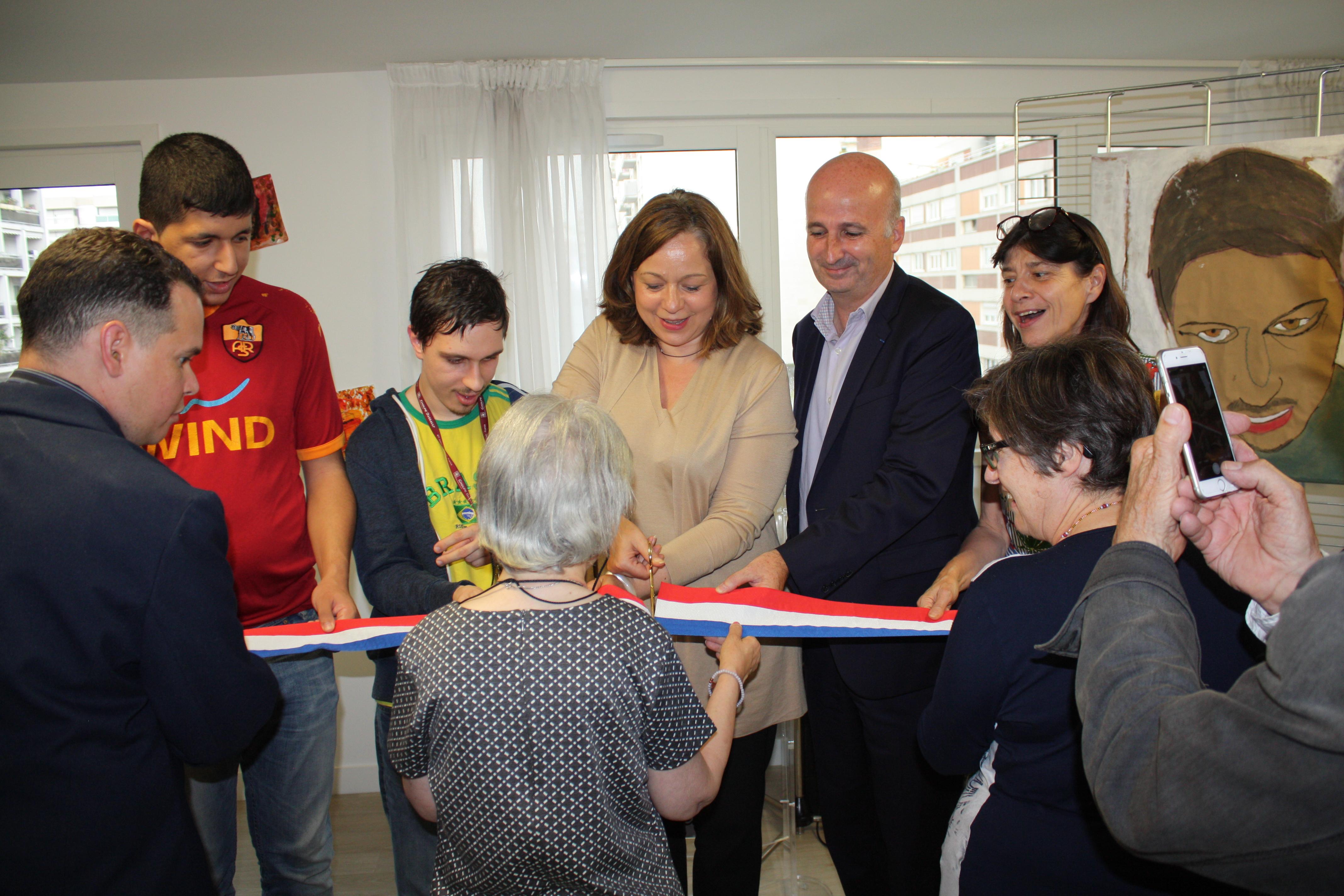 Fondation Foyer Handicap Plan Les Ouates : Inauguration du foyer louise dumonteil mairie e
