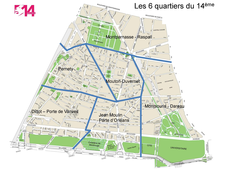 Plan des 6 conseils de quartier