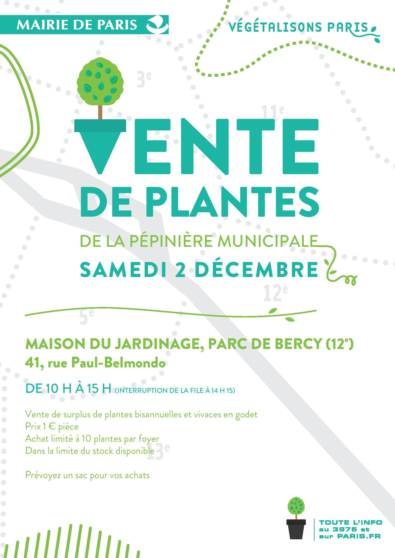 Vente de plantes le 2 d cembre mairie du 16e for Site de vente de plantes
