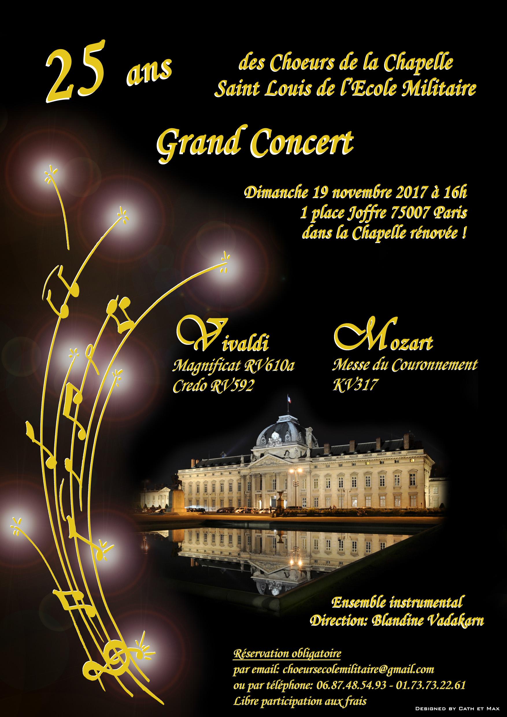 Concert Chœurs Saint Louis de l'École Militaire - Mairie du 7e
