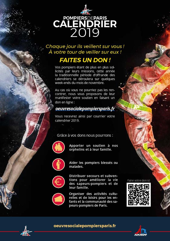 Les Calendriers De Vos Sapeurs Pompiers De Paris Disponibles