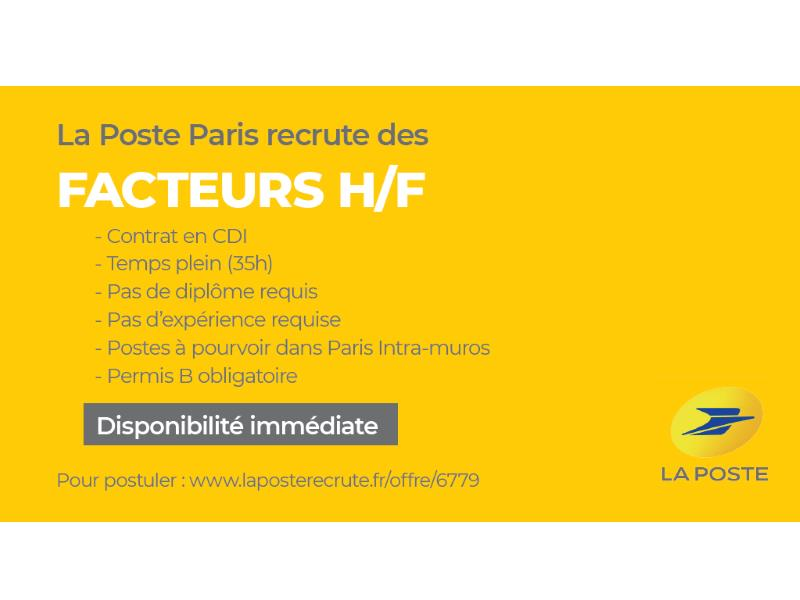 la poste recrute des facteurs et des factrices mairie du 16e. Black Bedroom Furniture Sets. Home Design Ideas