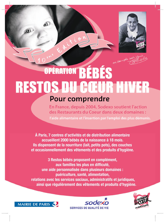 Flyer Bébés Restos du Coeur 2018