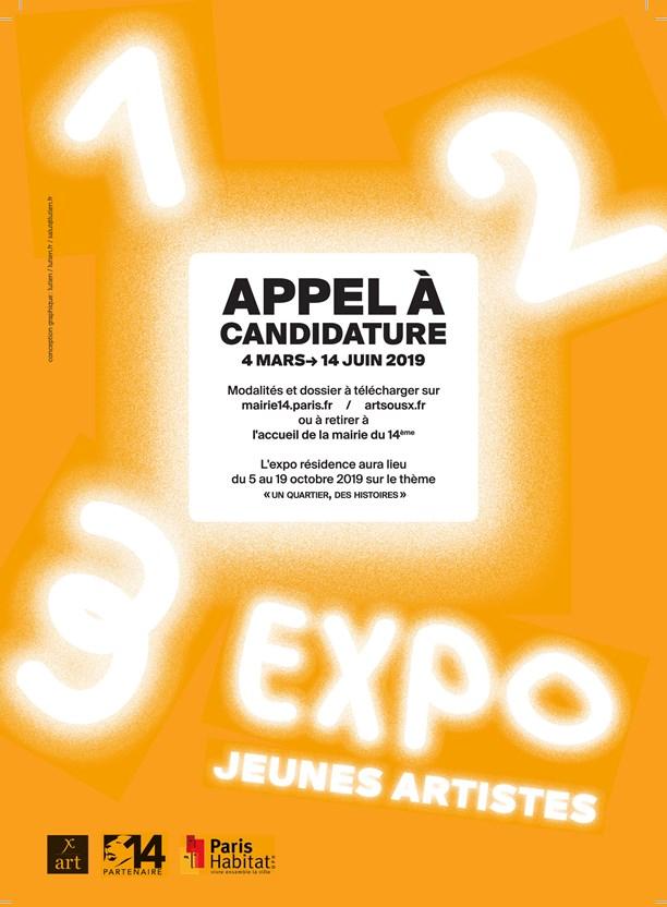 visuel appel à candidature l'Expo aux jeunes artistes