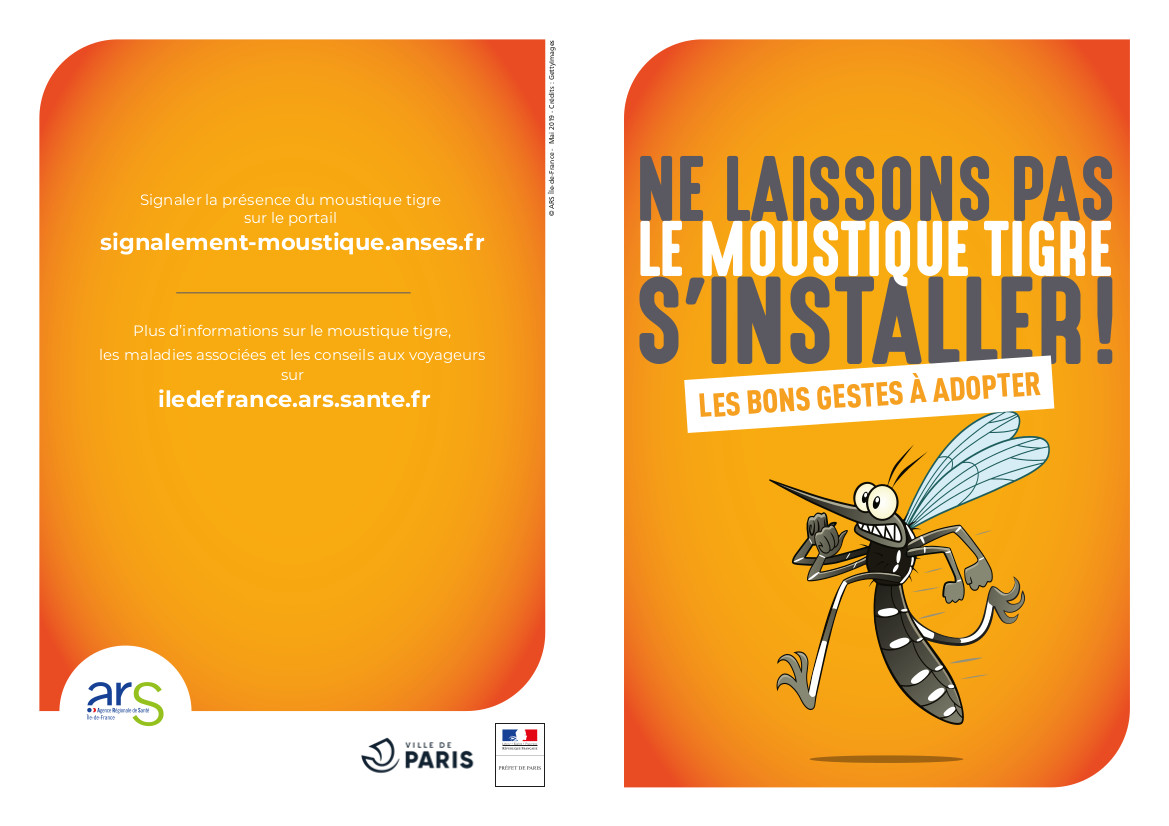 Plaquette informative sur moustique tigre