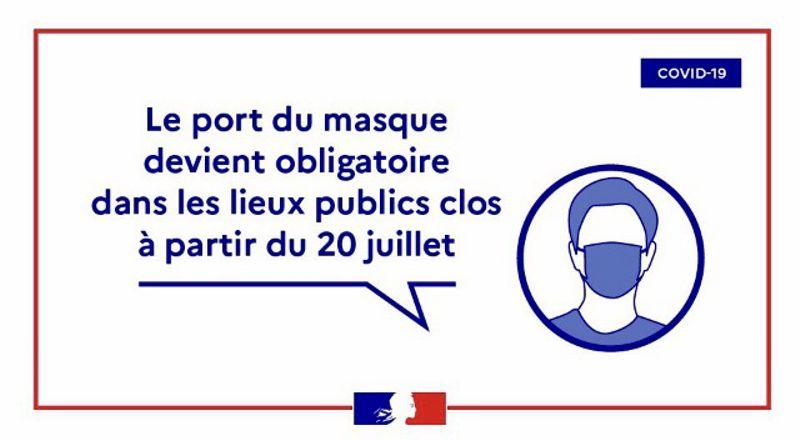 Port du masque obligatoire à la Mairie - Mairie du 8e
