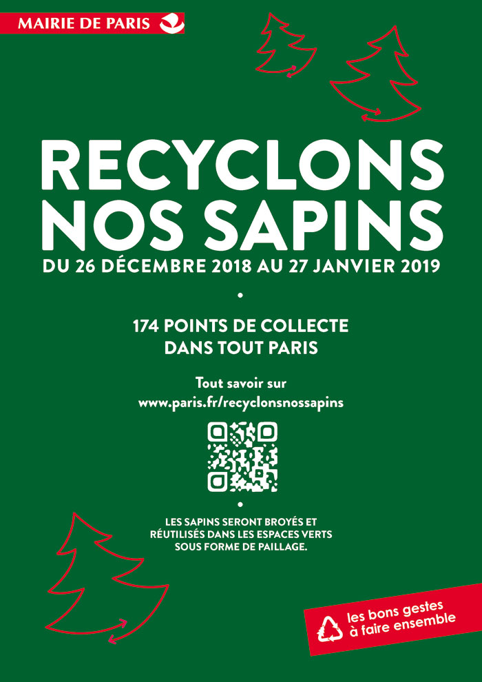 affiche recyclons nos sapins 2018 2019