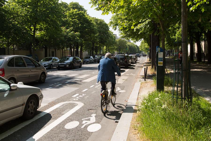 Piste cyclable du boulevard Arago