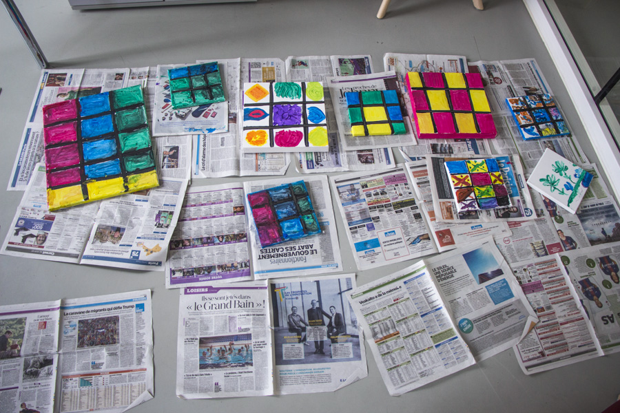 Atelier d'arts plastiques à l'EHPAD Alice Prin (14e)