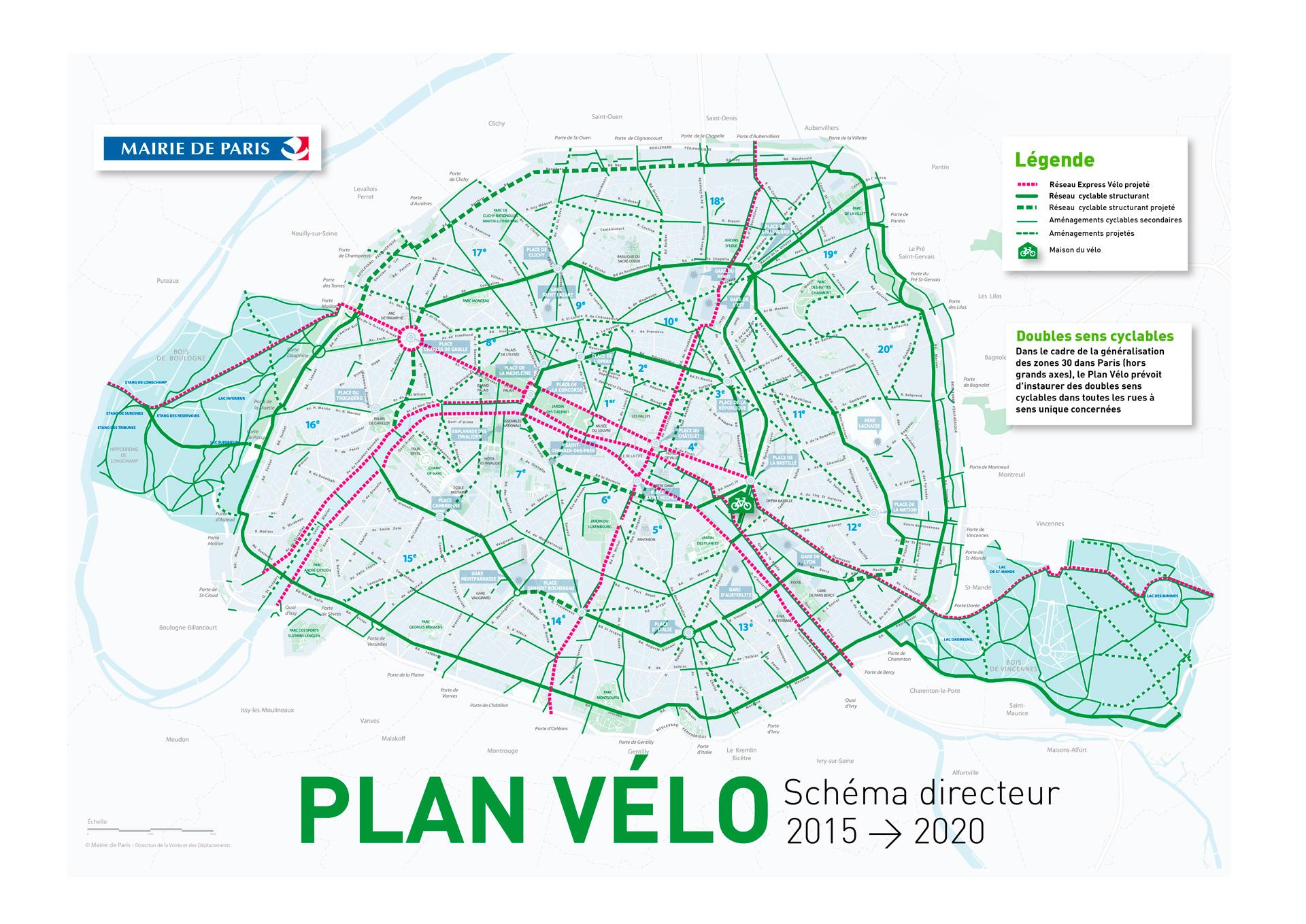 carte piste cyclable paris Paris à vélo   Ville de Paris