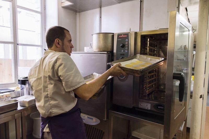 Charlie pâtissier au restaurant de l'Oratoire