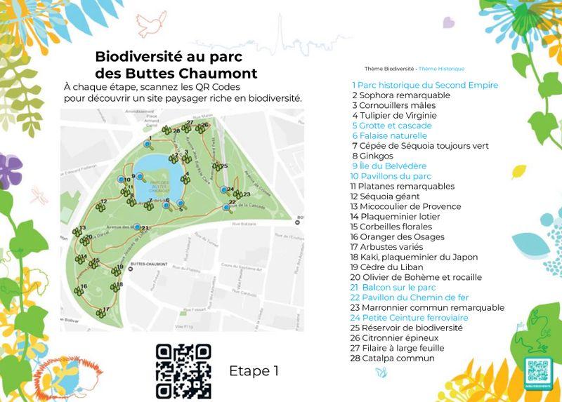 Carte Buttes Chaumont.Parcours Biodiversite Des Buttes Chaumont Paris Fr